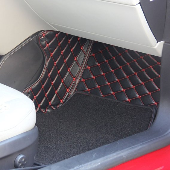Topfit Car Floor Mat With Grass For Tesla Model S Black